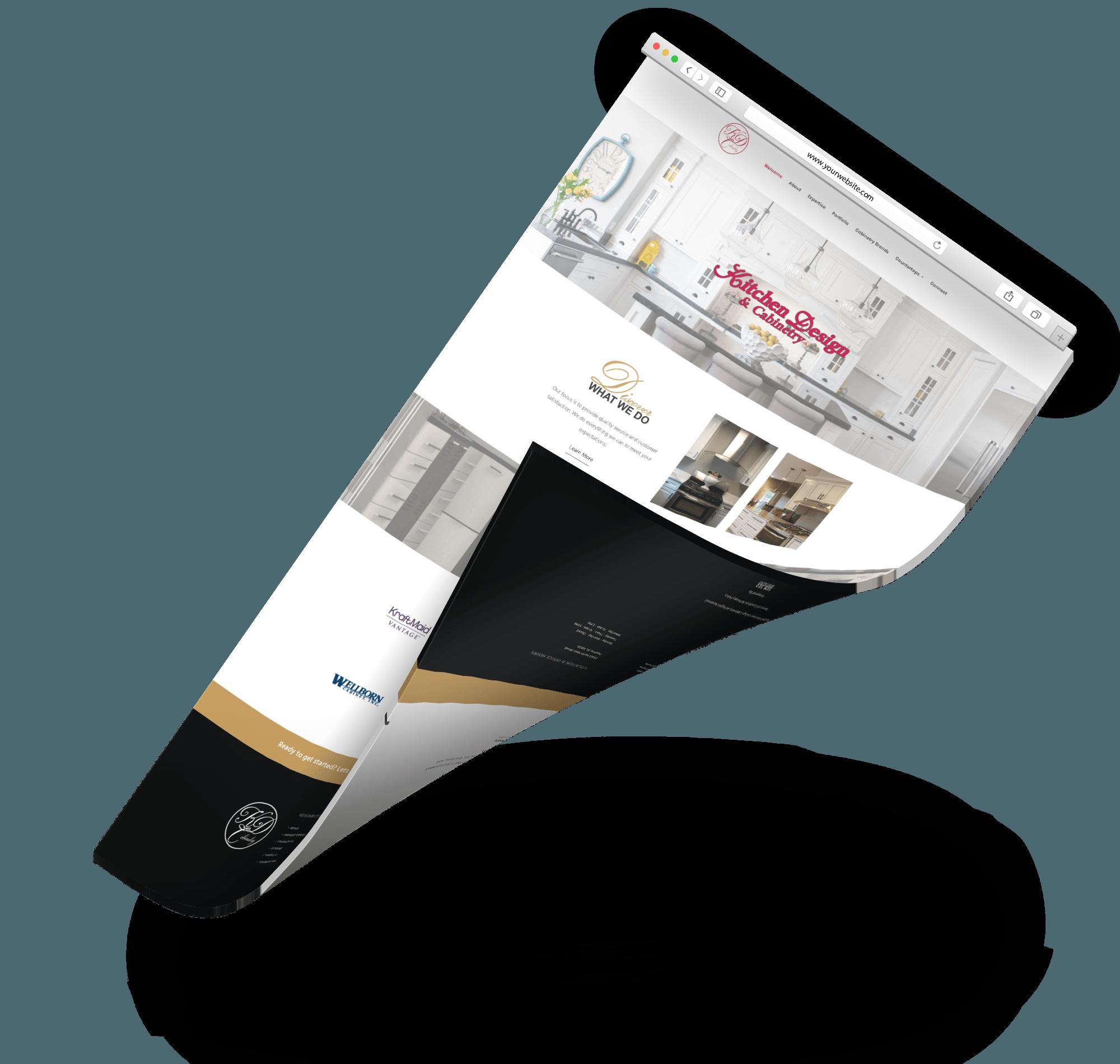 Kitchen design cabinetry web design