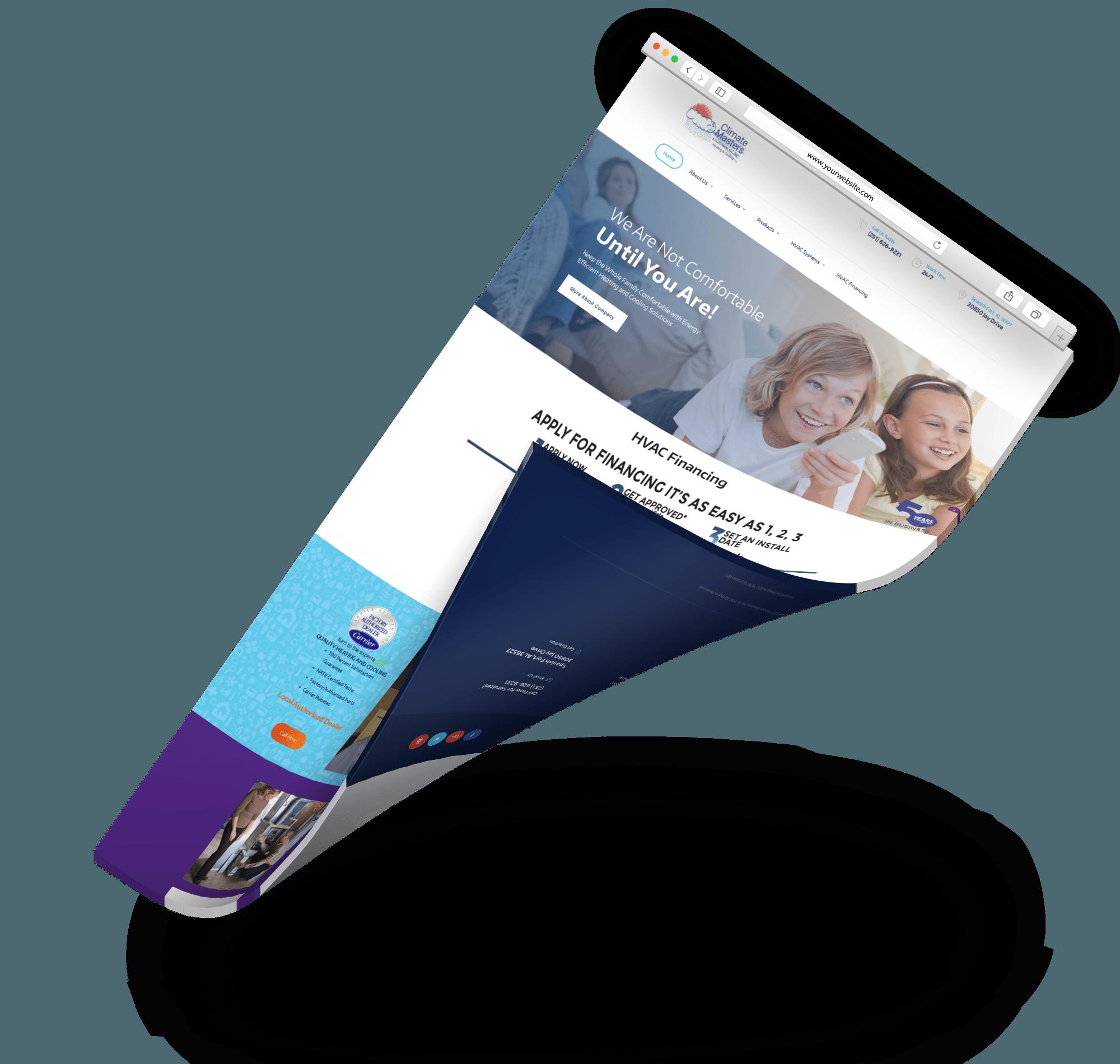 climate master web design service sem seo specialist