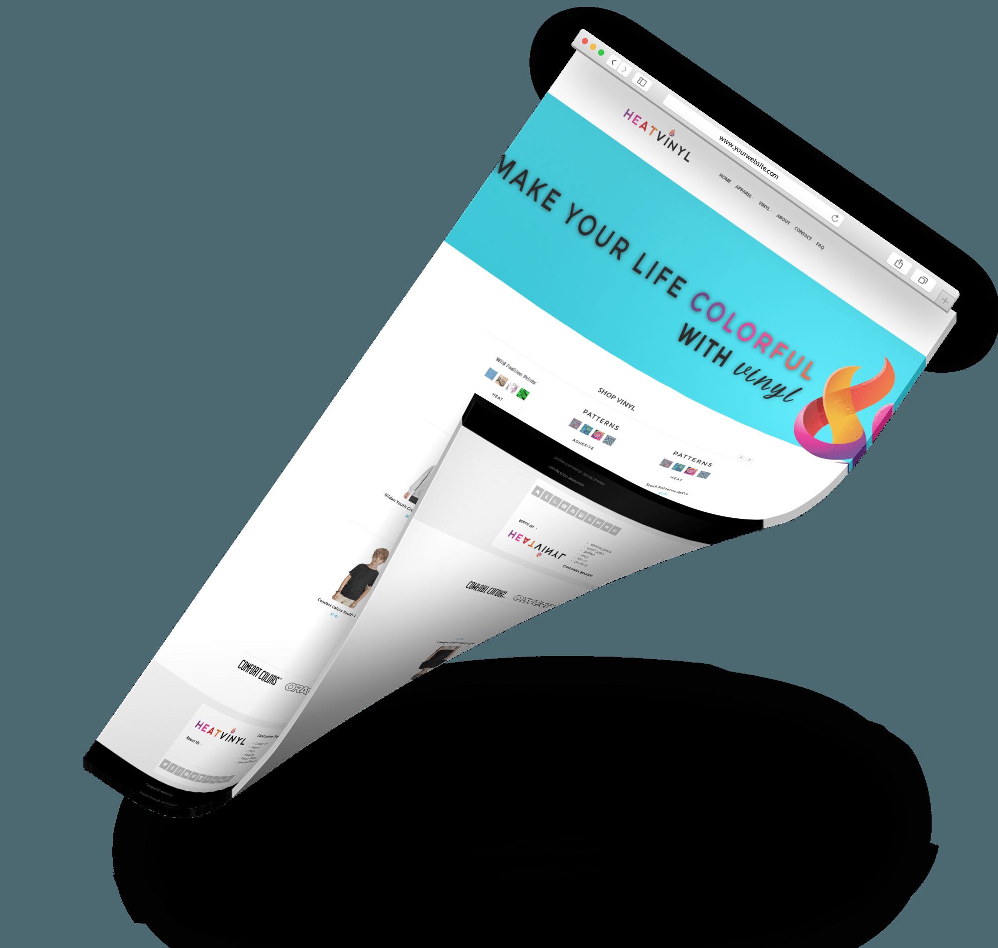 Heat vinyl web design sem seo specialist