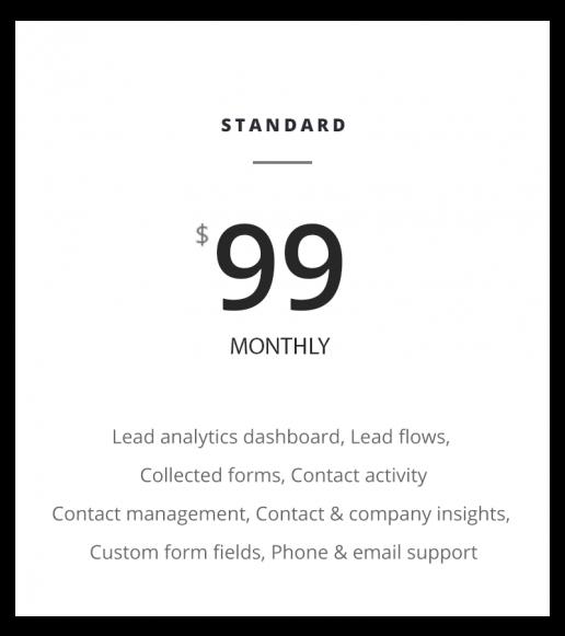 Marketing Price Plan standard