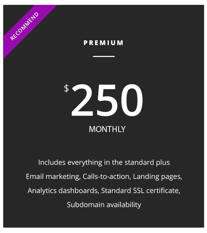 Marketing Price Plan premium